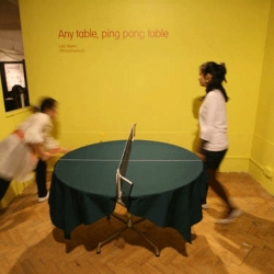 What if any table in your house could be changed into a ping-pong table? Never mind its shape or size, it is just perfect. Tithi's Any Table Ping Pong Table