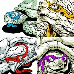 Teenage Mutant Ninja Turtles illustrated by PenguinX