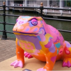Four cities in the UK now play host to giant sculptures of various animals.  Is this proof that the UK is finally going to the frogs?