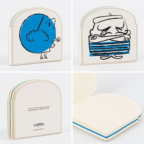 Papelaria x Colette Carnet Croque Madam and Croque Monsieur ~ fun sandwich shaped notebooks
