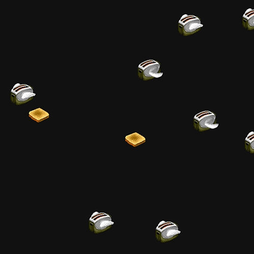 Nostalgia hit hard with these Flying Toasters made out of CSS by Bryan Braun. Mesmerizing.