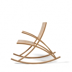 The Wishbone Rocking Chair by Toby Howes was first constructed completely out of maple but, by adding the walnut into the supporting curves, the two-tone now draws the eye through the chair's lines.