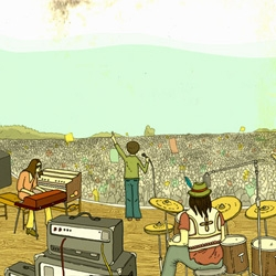 Toby Triumph updates his website with some illustrations for Vince Power's Hop Farm Festival.