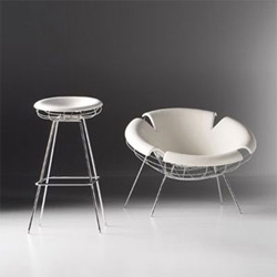 For Frighetto's debut at the 2007 Salone de Mobile in Milan, TODA designed the Bean line of furniture, which explores form through structure and skin.