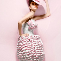 Can you believe that such covetable couture was created from ultra plush pink toilet paper? These fashions were all dreamed up in honor of Breast Cancer Month and made even more of a splash than they had hoped!
