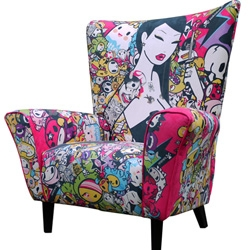 3 new Limited Edition Wingchairs from Tokidoki (pictured), Kozyndan and Zutto. Each sequentially numbered and signed by the artist. Just 33 of each design.