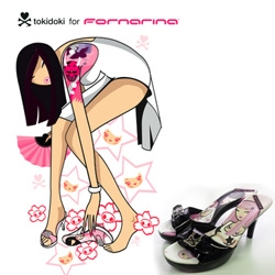 Tokidoki for Fornarina! Two of my favorite things combined... to make some great shoes.