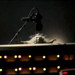 Master Yoda during the recording of his GPS voice for TomTom.