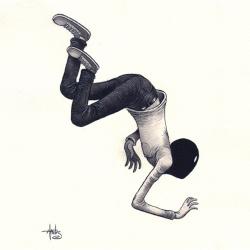 Tom Haubrick's eerie illustrations are pretty amazing.
