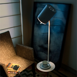 Monsieur lamp for Almerich, designed by Tom Allen, Christian Vivanco and Yago Rodriguez is a floor lamp, great for readers, providing a place to rest your book, tea, or glasses.