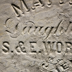 A nice collection of typography on 18th & 19th Century tombstones. Photographed by artist + designer Tom Davie