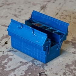 Blue Trusco 2-Level Cantileve Tool Box from Japan at Hand Eye Supply.