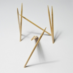 Typick font made from toothpicks by Jerome Haldemann.