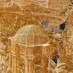 Incredible toothpick sculptures from Scott Weaver. Incredible what one can do with 100,000 toothpicks!