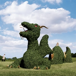 All i want for xmas (from the NM Christmas book - other than the pop up book) is a 100 ft Dragon Topiary! Check out some of the other outrageous goodies as well... like Steamer Trunk Bar (they are making a comeback!)