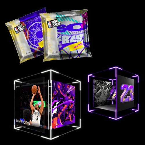 NBA Top Shot (from the folks behind CryptoKitties) - is this the next gen of baseball cards... or an NFT hype $$$ bubble? (The faux packs look like condom packaging, and the digi-cubes are... hm...)