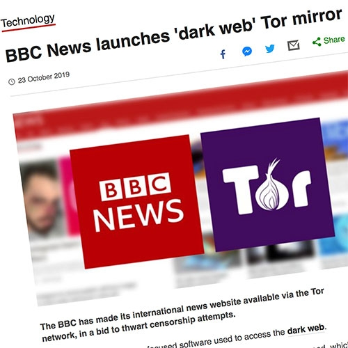 BBC News International Edition is now available on the dark web at bbcnewsv2vjtpsuy.onion to provide access to those who have censored internet access...