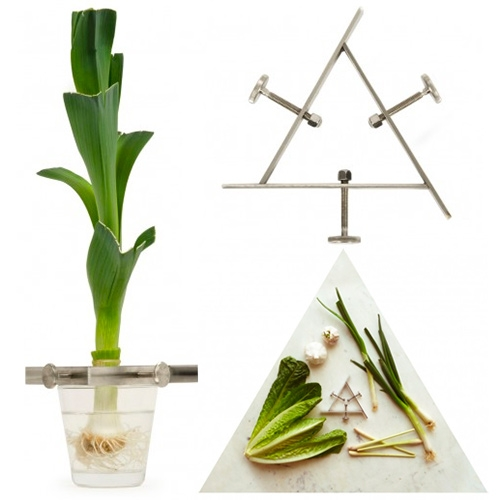 Växtställ Regrow by Madeleine Nelson is part of the Design Torget & Beckmans College of Design collection. This vegetable stand is ideal for regrowing/rooting many fruits and vegetables, and fits many types of glasses/vases.
