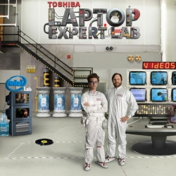 Enter the crazy Toshiba Labs. Two mad scientists open the doors of their universe and do crazy experiments. I love this webseries by Doctor Twins and Y&R.