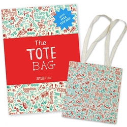Totebags were totally the new tshirt the last few years... and it's no surprise that Jitesh Patel's The Tote Bag Book comes with... a tote bag!