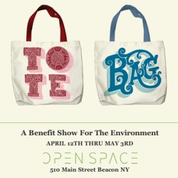 OPEN SPACE has asked 125 artists from around the world to donate their time and talent to this cause in the form of custom-designed tote bags.