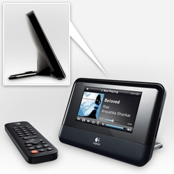 Logitech Squeezebox TOUCH! Latest in the squeezebox line adds touch sensitivity and a gorgeous screen... and check out how pretty the curve in the back is!