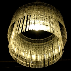 Stunning 'Spoon' chandelier made from hundreds of recycled coffee stirrers - by Studio Verissimo / Touch
