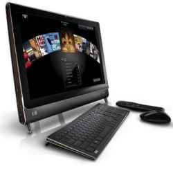Demo of HP's TouchSmart, a thin, all-in-one PC with a touch screen. Do you wanna touch?