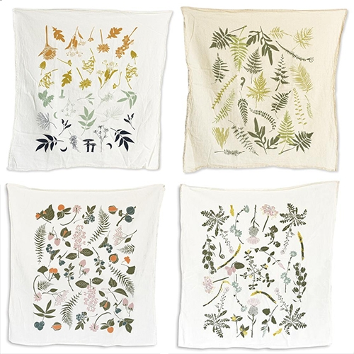 June & December Tea Towels! Pretty, delicate illustrations inspired by plants growing wildly and in our gardens. Favorites are Solstice, Endangered Ferns, Wild Berries and Nuts, and Edible Wilds.