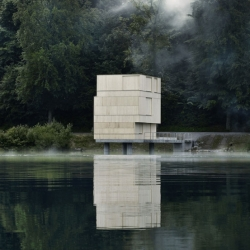 The Tower of Rotsee, Switzerland, is used during summer rowing regattas on the lake. Designed by AFGH Architects.