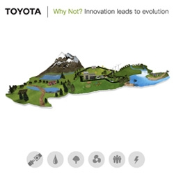 Lovely clean playful Toyota Why Not? site ~ feels a bit katamari ~ and you can spin/zoom around this island of greenness!