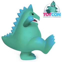 ToyCon is doing their own exclusive TCON the Toyconosaur toy during the UK's first designer toy convention