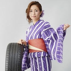 Toyo has turned three of its tire treads into yukata summer kimono designs.