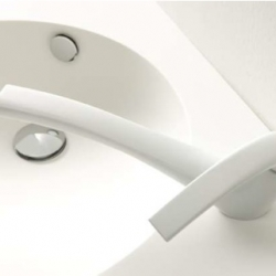 Architect Toyo Ito designed this bathroom faucet for Altro.