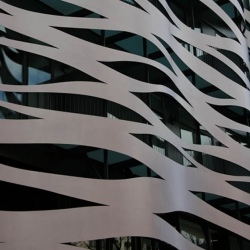 toyo ito recently transformed this facade in barcelona spain, inspired in la  pedrera from gaudi that lies across the street