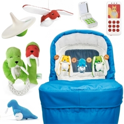 Brio's My Very First collection has some adorable toys for those shopping for new borns... i'm smitten with the awesome walrus! and flying bunny (which can also come with a cell phone!)
