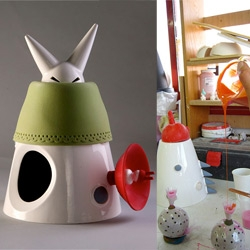 """StudioKahn designs and manufactures Metamorphoses, a series of three shape changing dolls that illustrate """"Little Red Riding Hood."""" ~ most fascinating is the making of these porcelain and silicone toys!"""