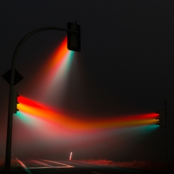 Stunning photography project from Lucas Zimmermann. Capturing the haunting glory of traffic lights which captured in foggy conditions.