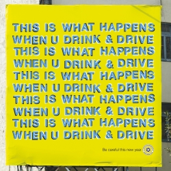 This ad from the Mumbai Police Department discourages drinking and driving by creatively executing a visual trick on the eyes. The entire ad looks like it's waving.