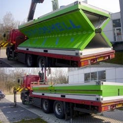 Awesome idea for flat packed shipping containers ~  Cargoshell concept by Dutch entrepreneur Rene Giesbers
