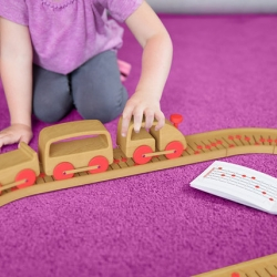 Sound Track Wooden Train Set that lets kids compose tunes, by Ricardo Seola and Quirky.