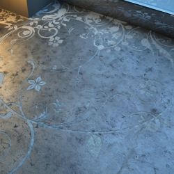 Transparent House created a way to add any pattern you like to (polished) concrete floors.
