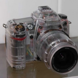 Transparent model of Nikon D80 DSLR camera... and other transparent products!