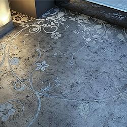 concrete art... the way to refine a popular element of contemporany interior design such as polished concrete flooring...