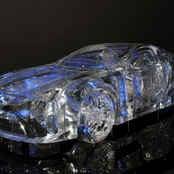 Noted Japanese architect Scu Fujimoto built a full-size Lexus LFA out of transparent acrylic boards that were sanded and polished. This see-through supercar sculpture made an appearance at the 2009 Tokyo Motor Show.