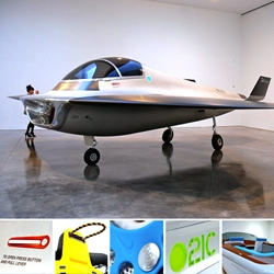 Gagosian Gallery's TRANSPORT, a thematic exhibition by Marc Newson. All of his major designs and realized products for transport and human locomotion since 1999.