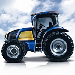 The world's first fuel cell tractor by New Holland.