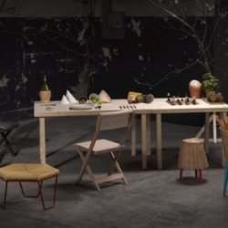 Design collective Postfossil will be launching this great new collection at the Salone del Mobile this month called 'Trattoria Utopia'.