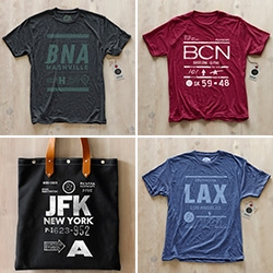 Pilot & Captain Tees, Totes, Prints, celebrating some of your favorite airport (codes) designed by The Heads of State.