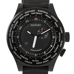 Nixon Passport Watch ~ a nice, clean solution to always knowing what time it is in various cities...